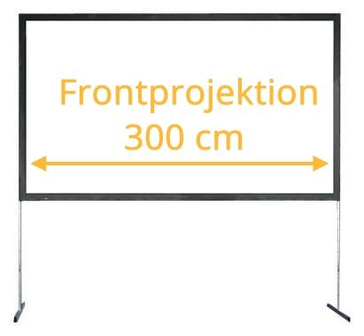 projector screen mieten rahmenleinwand m
